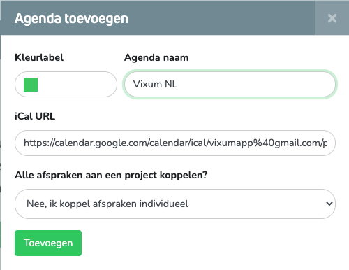 Google Agenda koppelen stap 6.