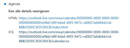 Outlook Agenda koppelen stap 3.
